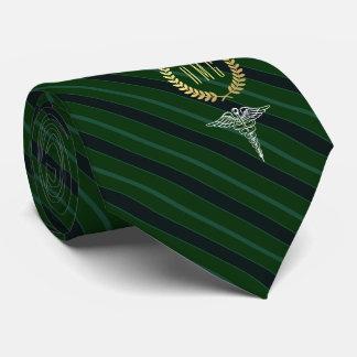 Gravata Verde Monogrammed profissional médico