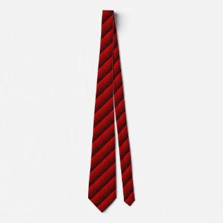 Gravata vermelha e preta da listra