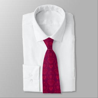 Gravata Vermelho carmesim, projeto magenta escuro do