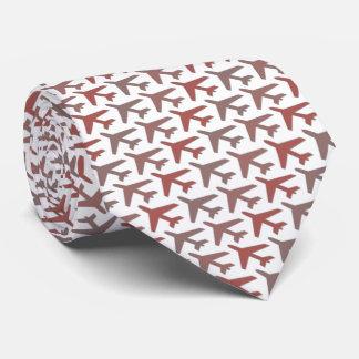Gravata Vermelho de Armani do laço do avião no branco