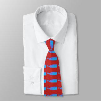 Gravata vermelho de Thunder_Cove da baleia azul