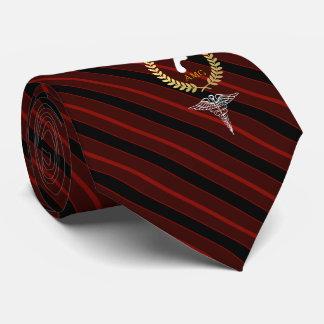 Gravata Vermelho feito sob encomenda do monograma do
