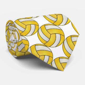 Gravata Voleibol amarelo e branco desportivo