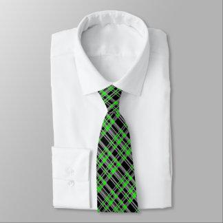 Gravata Xadrez verde gráfica moderna, costume -