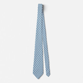 Gravatas brancas azuis do teste padrão de