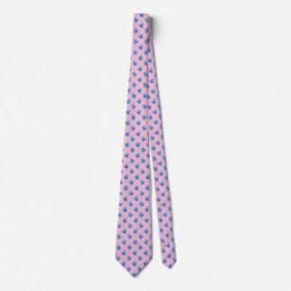 Gravatas cor-de-rosa para sapos de árvore azuis