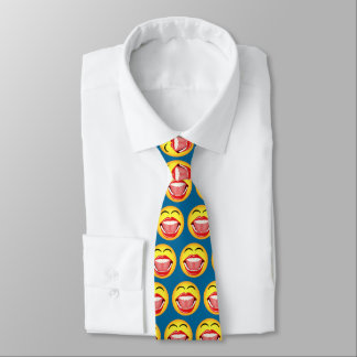 Gravatas de riso engraçadas do divertimento azul