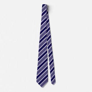 Gravatas listradas para os homens azuis e brancos