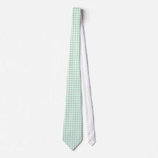 Gravatas verdes do teste padrão do guingão da hort