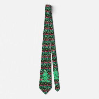 Gravatas verdes vermelhas do feriado do