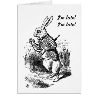 Gravidez - Alice no cartão branco do coelho do