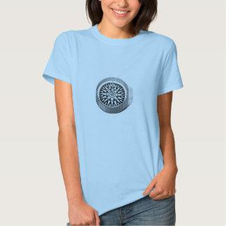 Gravura a água-forte marinha clássica - compasso t-shirt