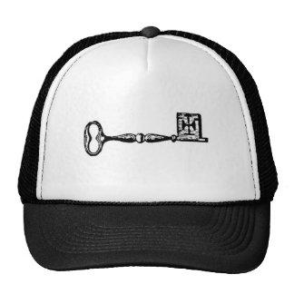 Gravura antiga da chave de esqueleto bone