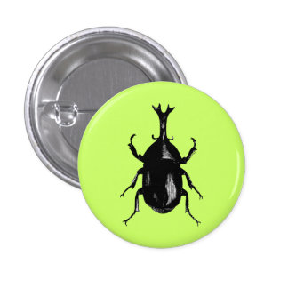 Gravura de madeira do vintage do inseto do inseto  botons