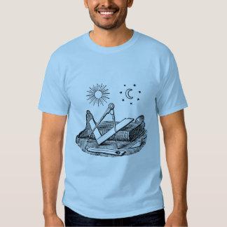 Gravura maçónica do século XIX de G Kenning Camisetas