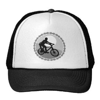 grayscale da roda dentada chain do Mountain bike Boné