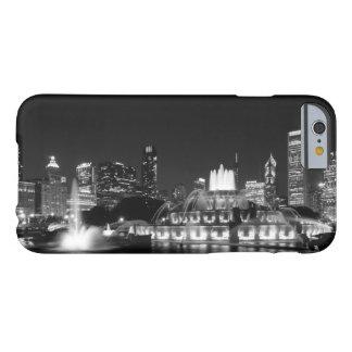 Grayscale de Chicago do parque de Grant Capa Barely There Para iPhone 6