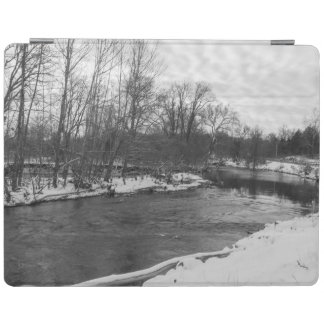 Grayscale de James River da beleza da neve Capa Smart Para iPad