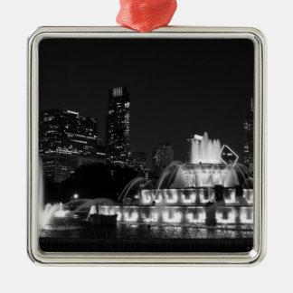 Grayscale do parque de Chicago Grant Ornamento De Metal