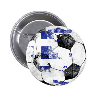 Greece Distressed Soccer Buttons