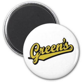 Green no ouro imã de refrigerador