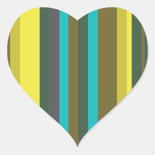 Green_stripes Adesivo Coração