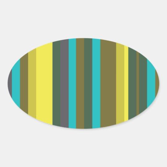Green_stripes Adesivo Oval
