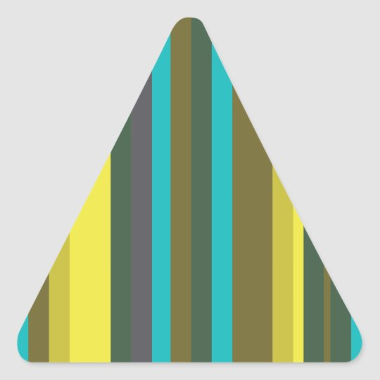 Green_stripes Adesivo Triangular