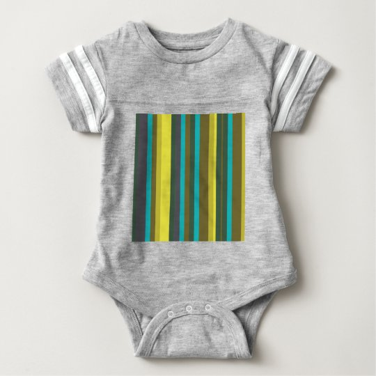 Green_stripes Body Para Bebê