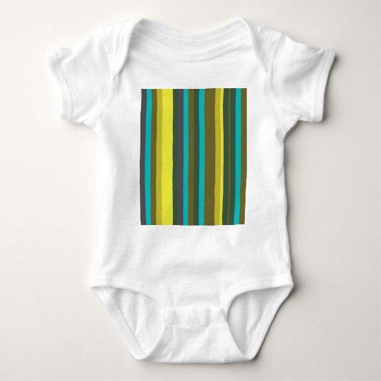 Green_stripes Body Para Bebê