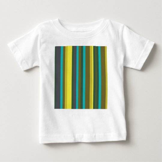 Green_stripes Camiseta Para Bebê
