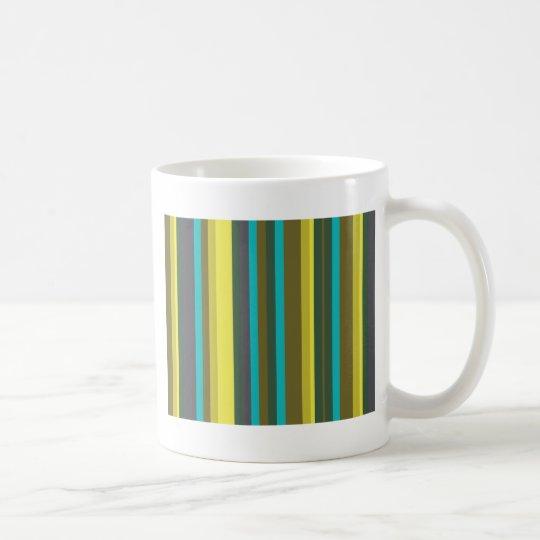 Green_stripes Caneca De Café