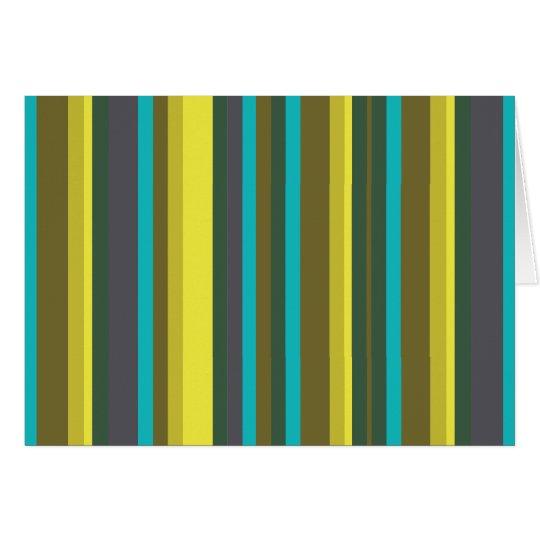Green_stripes Cartão Comemorativo