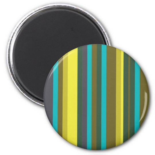 Green_stripes Ímã Redondo 5.08cm