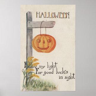 GreetingJack-O-Lanterna do Dia das Bruxas no cargo Posters