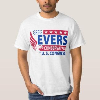 Greg Evers para o congresso T-shirt