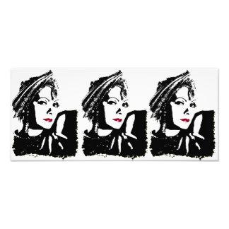Greta em preto e branco foto arte