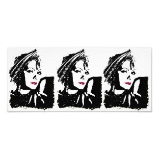 Greta em preto e branco impressão de foto