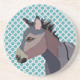 Grey's Donkey Art Coaster