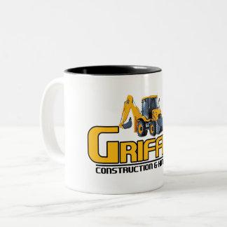 Griffith Constructioin (apoio da empresa) Caneca De Café Em Dois Tons