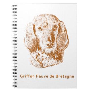 Griffon Fauve de Bretagne Cadernos Espiral