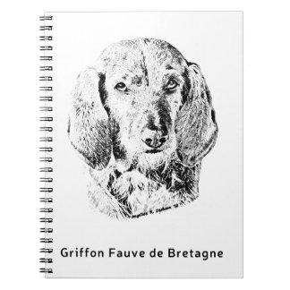 Griffon Fauve de Bretagne Desenho Cadernos Espiral