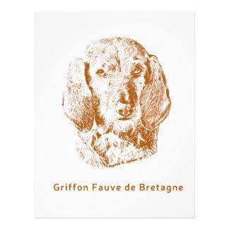 Griffon Fauve de Bretagne Papel Timbrado