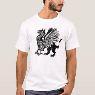 Grifo preto - design medieval do gryphon t-shirt