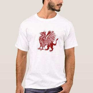 Grifo vermelho - design medieval t-shirt