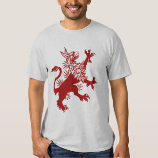 Grifo vermelho - Gryphon medieval Camiseta