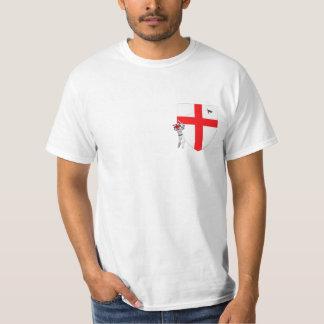 Grilo do inglês da bandeira de Inglaterra Camisetas
