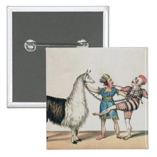 Grimaldi e a alpaca, na pantomima popular bóton quadrado 5.08cm