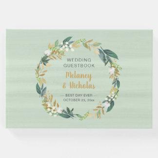 Grinalda botânica + livro de hóspedes do casamento