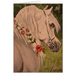 """""""Grinalda cabeça de cavalo árabe dos rosas"""" Cartao"""